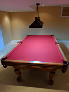 Brunswick 9X5 Pool Table with Cue Rack and Bar Table!