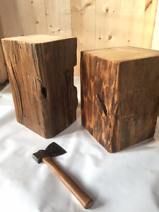 End Table - Hand Hewn Timber