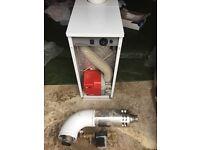 Grant 50/70 Euroflame, kitchen boiler, pump and flue.