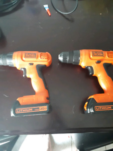Two black and deckee drills 20v