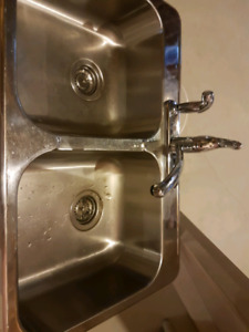 Stainless steel sink & faucet $150 or Best Offer!!