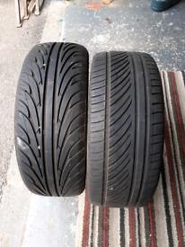 "2 x 16"" tyres"