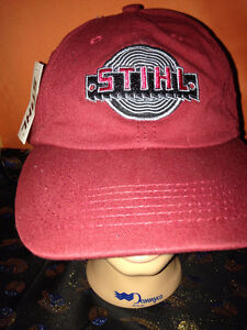 STIHL CHAINSAW MAROON HAT-NEW OLD STOCK-WITH TAGS