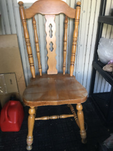 antique 5 chairs