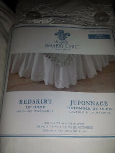 Brand new Embroidered twin size bed skirt