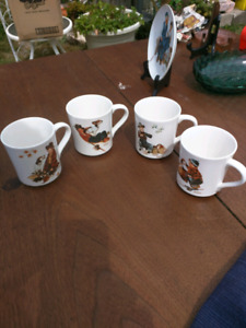 4 Norman Rockwell cups from 1984