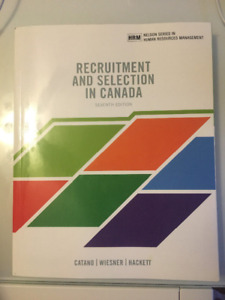 Recruitment and Selection in Canada, 7th edition