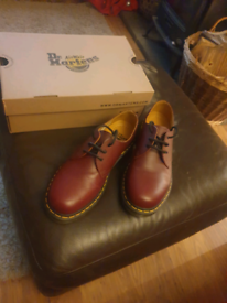 Dr Martens cherry red shoes size 8
