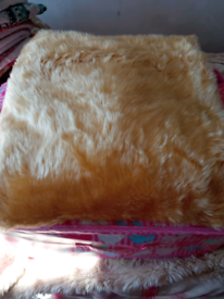 Furry fabric cut piece 1.5 X 1.5m new £2
