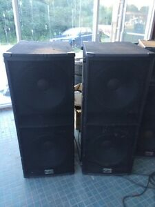 Dual 18 sub  dual 15 full range speakers