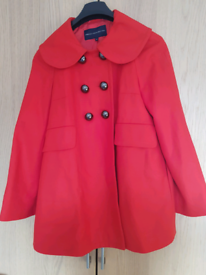 Red French Connection Women's Coat size 12