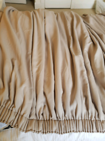 Long thermal lined curtains - perfect for tenement windows!