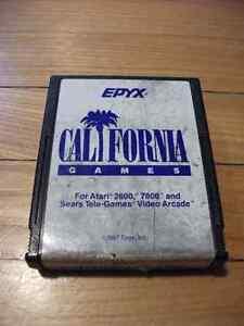 California Games Atari 2600 Game Cartridge Epyx Games Series