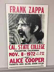 Vintage Rock Concert Posters- Frank Zappa
