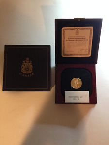 1976 CANADIAN OLYMPIC 22K GOLD COIN