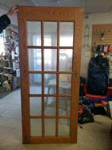 Glass panel (french)Door  34×80