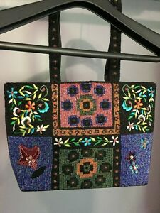 Purse / handbag with beads handmade