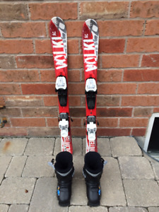 Volkl 90 cm Skis and 17.5 Rossignol Boots