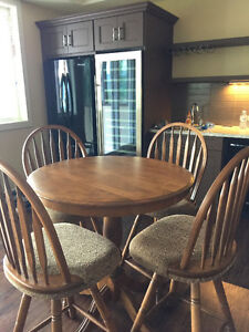 Bistro Height solid wood table & chairs