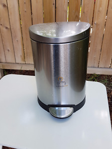 Simple Human Stainless Steel Garbage Can - Like NEW