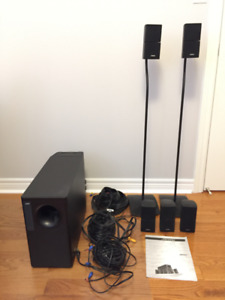 Bose Acoustimass 15 Home Theater Speaker System with 2 Stands