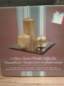 4-piece Festive Candle Gift Set