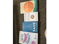 Set of amazing mental health books