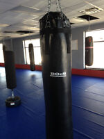 6 foot, filled Boes Boxing heavy bags WITH chains