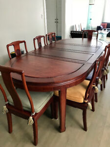 Rosewood Dining Table and Chairs