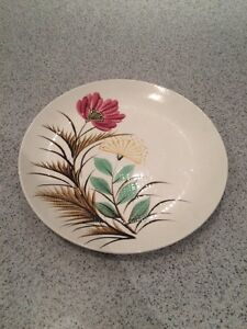 Large Painted Flower Plate