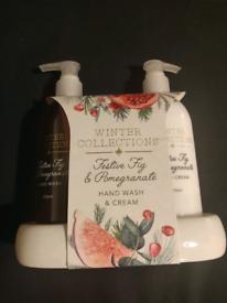 Winter collections festive fig & pomegranate hand wash & cream