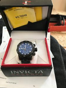 """Brand new Invicta """"Venom"""" blue steel divers watch"""