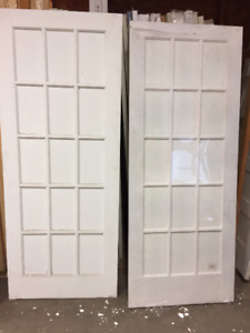 French doors - 32X80- 15 panel - clear glass