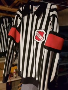 Force referee jersey size 50 with red and orange bands