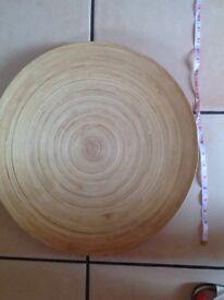 🍎🍐🍌 IKEA very large bamboo round bowl