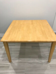 Kitchen Square Table with 4 chairs