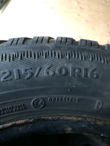 215/60R16 Used Snow Tires