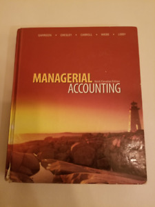 Managerial Accounting Textbook - $30