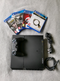 Sony PS4 1TB Gaming Console + Controller + cables + 4 Games *Excellent