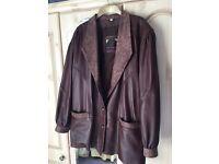 Ladies Chocolate Brown Leather Jacket (Blazer Style)