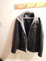 DH3 Black leather like jacket
