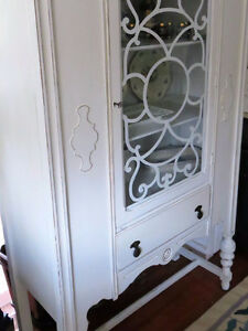 Extremely Beautiful Shabby Chic Antique White China Cabinet