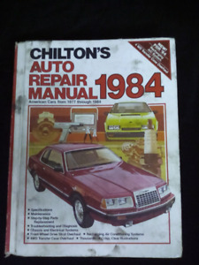 CHILTON'S  AUTO REPAIR MANUAL 1984