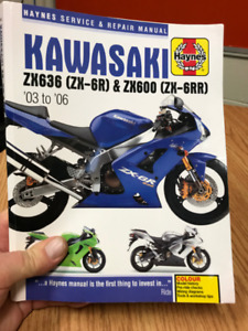Kawasaki zx6r , 636, zx600, zx6rr Haynes Repair Manual 2003-2006