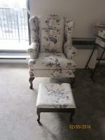 Beautiful chair with foot rest