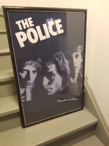 Framed Poster (The Police, regatta de blanc)
