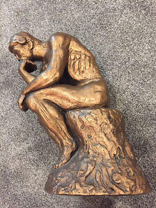 """Austin Sculpture Made In 1963, Man """"In Thought"""" 11 1/2"""" Tall"""