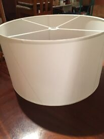 Very large white cotton ceiling lightshade