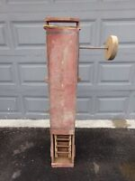 Antique Wooden Grain Carrier Section with Wooden Wheel
