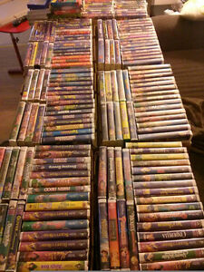 kids vhs tapes mostly Disney $2 each